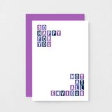 SixElevenCreations-Congratulations Card-SE0323A6-Purple
