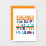 SixElevenCreations-New Baby Card-SE0019A6-Orange