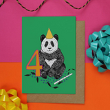 Panda Age 4 Birthday Card