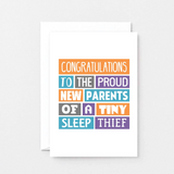 SixElevenCreations-New Baby Card-SE0019A6-White
