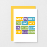SixElevenCreations-Belated Birthday Card-SE0104A6-Golden Yellow