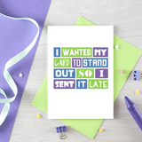 SixElevenCreations-Belated Card-SE0102A6-Lifestyle