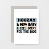 SixElevenCreations-New Baby Card-SE0238A6-Light Grey