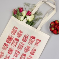 Red Jam Jars Tote Bag