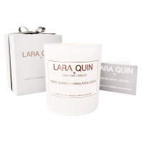 Smoky Quartz & Himalayan Cedar - Large Luxury Candle
