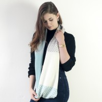 Triangle Circle Scarf - Mint
