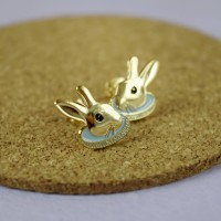 Gold Rabbit Earrings
