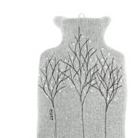 Ash Grey Treeline 1L hot water bottle