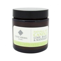 Natural Mandarin, Lime & Basil Soy Candle 105g