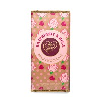 100g Raspberry & Rose Flavoured Milk Chocolate Bar