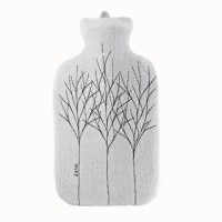 Silver Grey Treeline Hot Water Bottle Cover