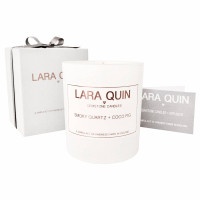 Smoky Quartz & Coco Fig- Large Luxury Candle
