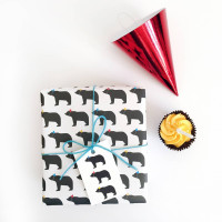 Bear In Party Hats, Wrapping Paper