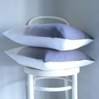 Linen Ombre 65cm Cushion - Charcoal