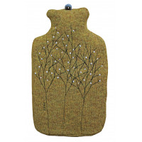 Gold Treeline Hot Water Bottle Cover