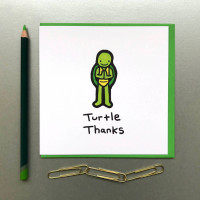 Turtle Thanks Card