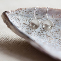 Circles and Pearls Drop Earrings