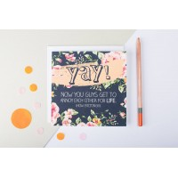 Yay! Wedding And Engagement Greetings Card