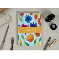 A5 Hardbound Notebook - Inkflowers