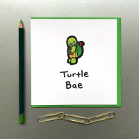 Turtle Bae Card