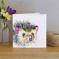 Inky Hedgehog Greeting Card