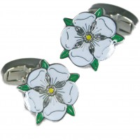 Yorkshire White Rose Cufflinks | Cuffs & Co