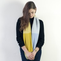 Triangle Circle Scarf - Piccalili/blue