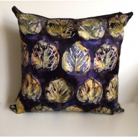 Digital Golden Leaf Cushion