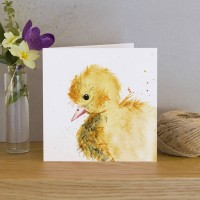 Inky Duckling Greeting Card