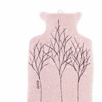 Pink Treeline 1 L hot water bottle