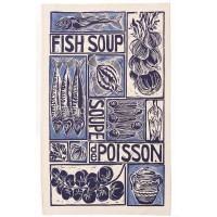 Soupe de Poisson Recipe Tea Towel