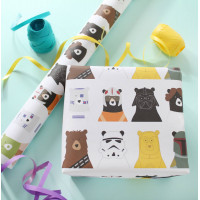 Star Bears Wrapping Paper