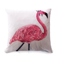 Flamingo Printed Cushion