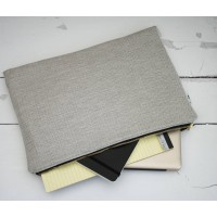 Laptop Sleeve - Grey with Bright Blue / Turquoise Lining