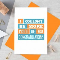 Congratulations Card   Proud Of You