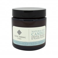 Natural Exotic Wood & Ylang Soy Candle 105g