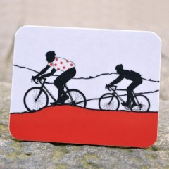 Red Polka Dot Jersey Coaster