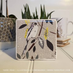 Handcrafted 'british Long-tailed Tit' Coaster