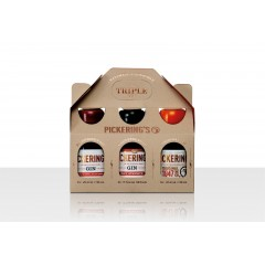 Pickering's Gin Triple Tipple Gift Set