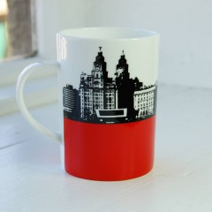 Liverpool Skyline Bone China Mug