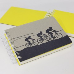 Cycle Race Notebook Yellow