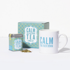 Calm The Fuck Down Tea Set