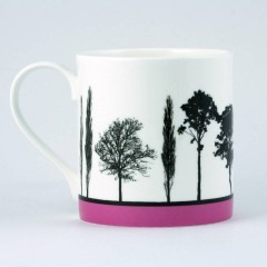 Pink Landscape Serenity Bone China Mug