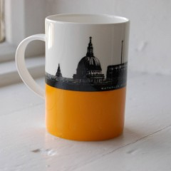 Waterloo Bridge And St Paul's Bone China Mug