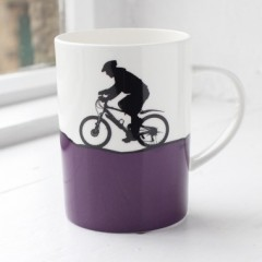 Mountain Biking Bone China Mug Individually Boxed