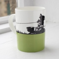 Fishing Bone China Mug - Individually Boxed
