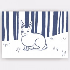 A6 Greetings Card 'Wild Rabbit'