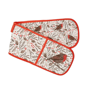 Christmas Robin Oven Gloves