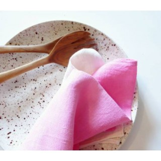 Linen Ombre Tea Towel - Hot Pink