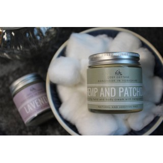 Handbag/travel Size Vegan Hemp And Patchouli Coconut Oil Hand And Body Cream